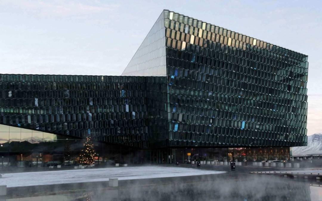 Reykjavik Opera House in the Winter