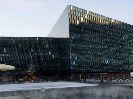 Reykjavik Opera House in the Winter