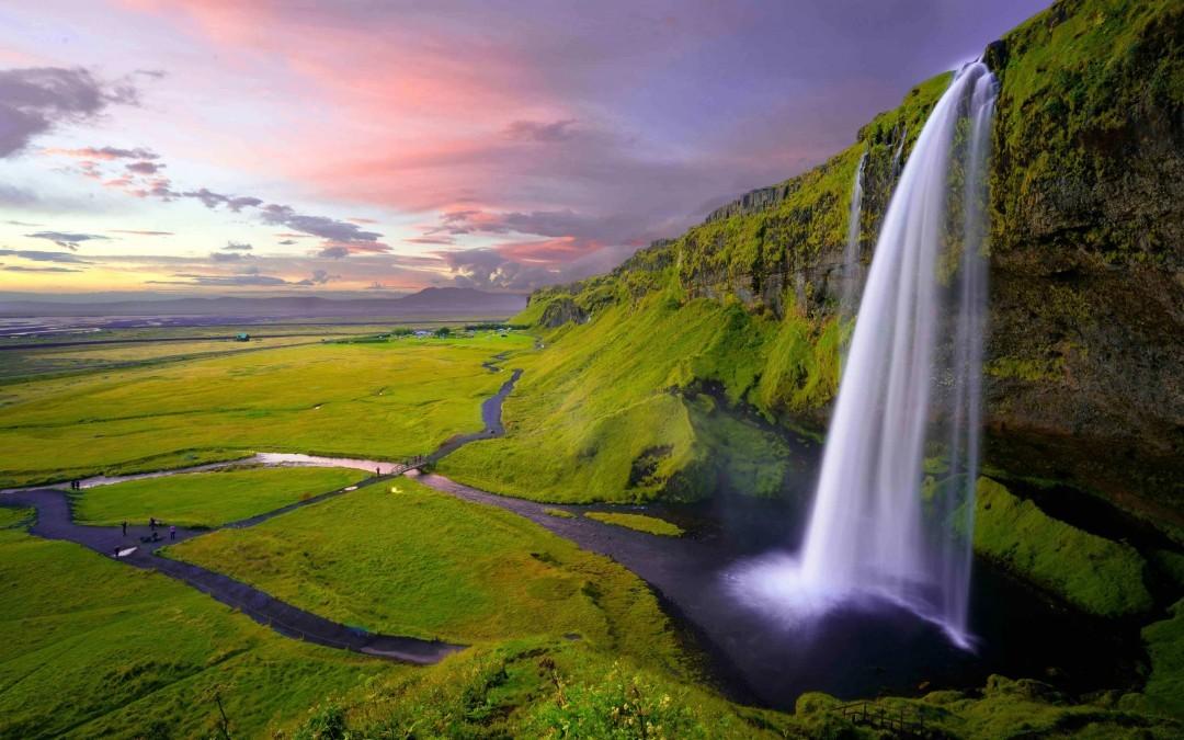 Seljalandsfoss Waterfall side