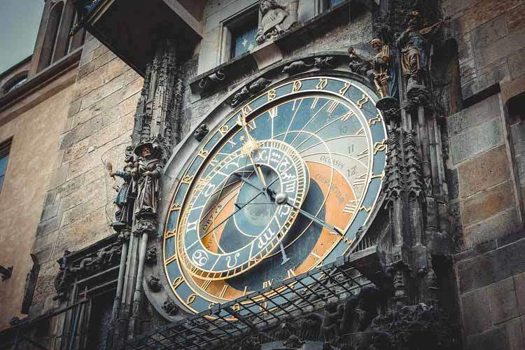 Prague Old Town Astronomical Clock - Paris & Prague Vacation